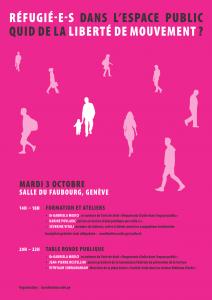 Coordination asile.ge_affiche_liberté de mouvement_ateliers et table ronde_2017